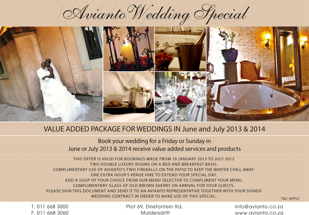 Incredible Value Packages Winter Special