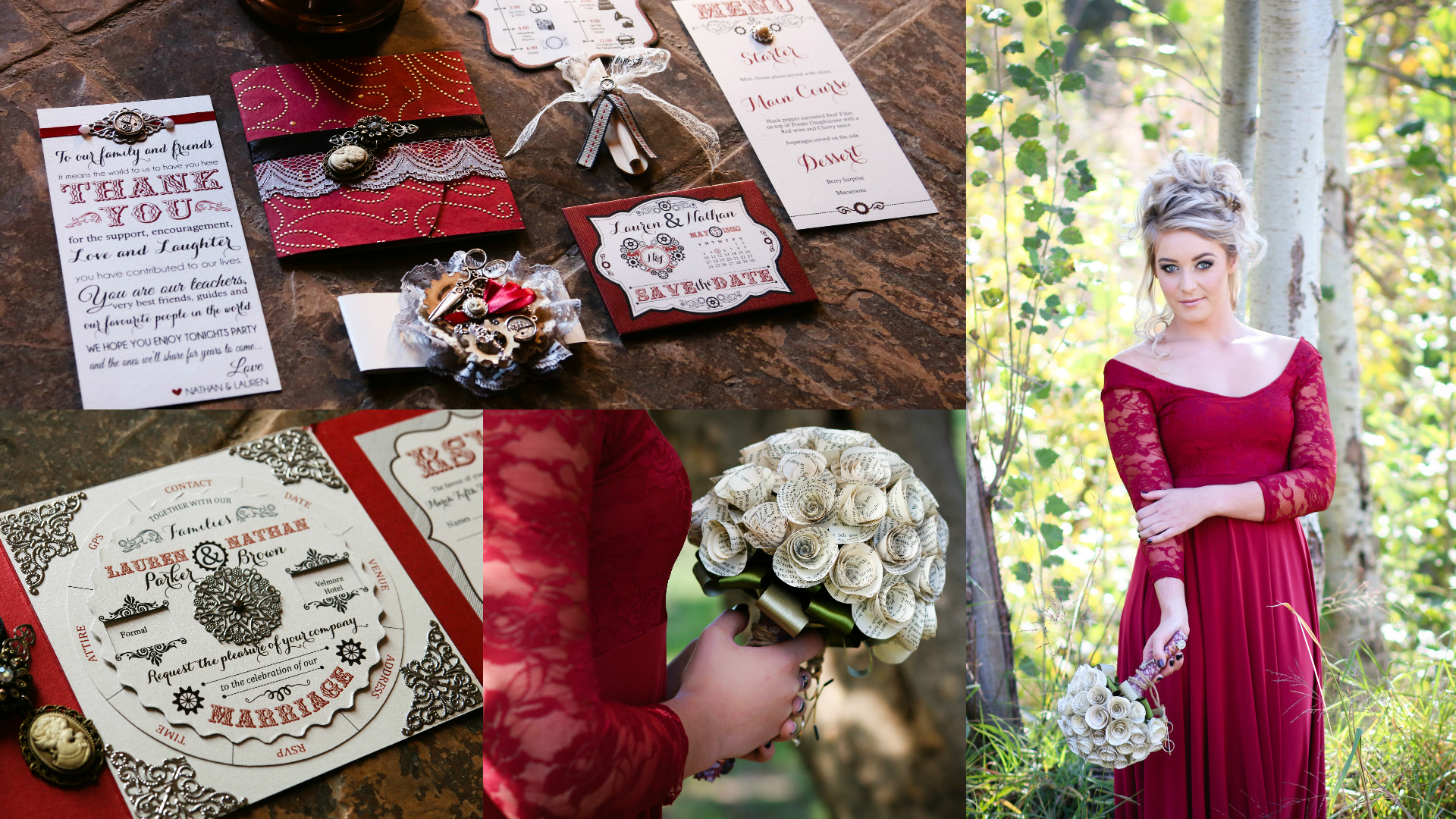 A Study of Scarlet – Styled Shoot by Pragtige Vintage Wedding ...